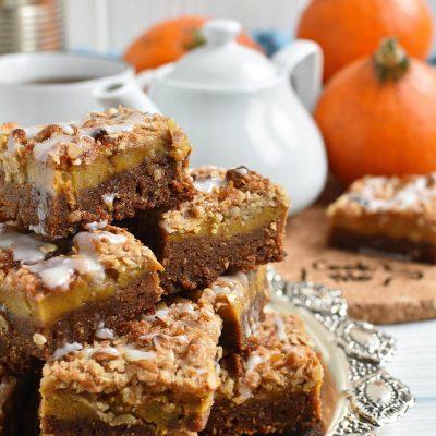 Pumpkin Streusel Bars Recipes–Homemade Pumpkin Streusel Bars–Easy Pumpkin Streusel Bars