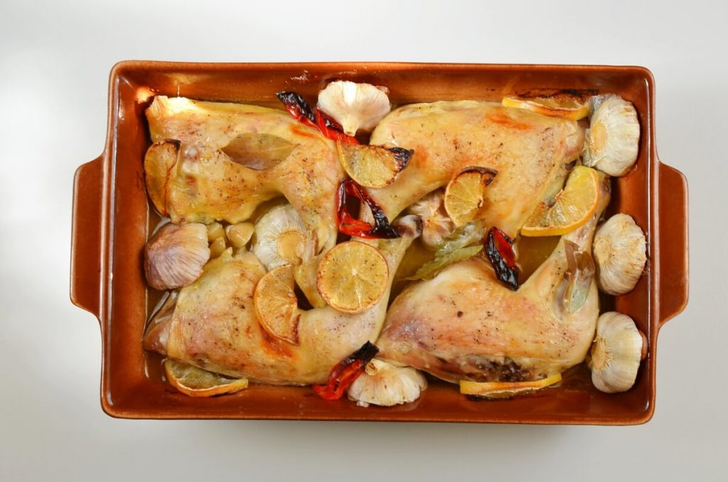 Roast Chicken Legs with Lots of Garlic recipe - step 6
