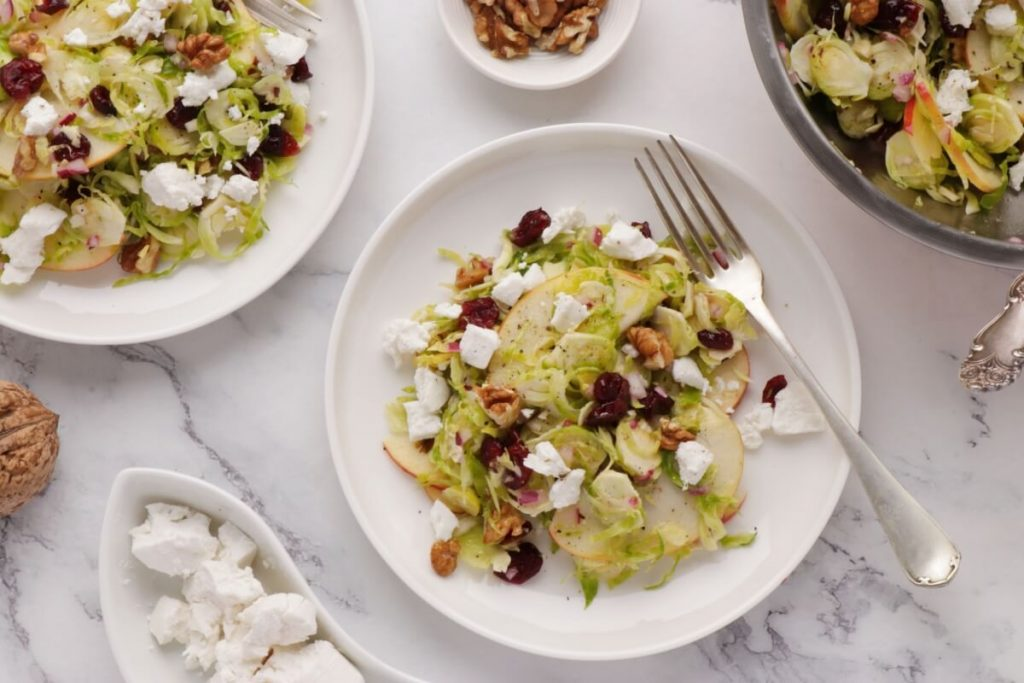 How to serve Shaved Brussels Sprout Salad