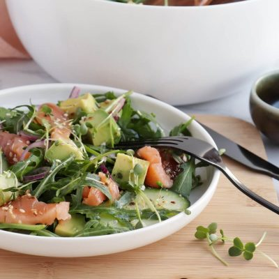 Smoked Salmon Salad Recipe-Easy Smoked Salmon Salad-Healthy Smoked Salmon Salad