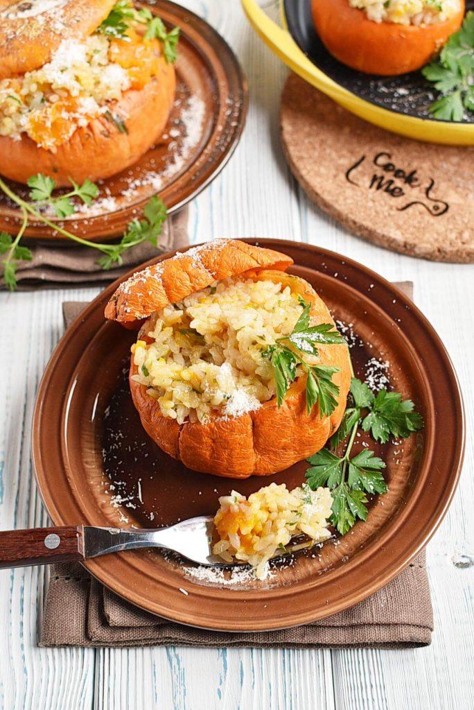 Risotto stuffed pumpkins
