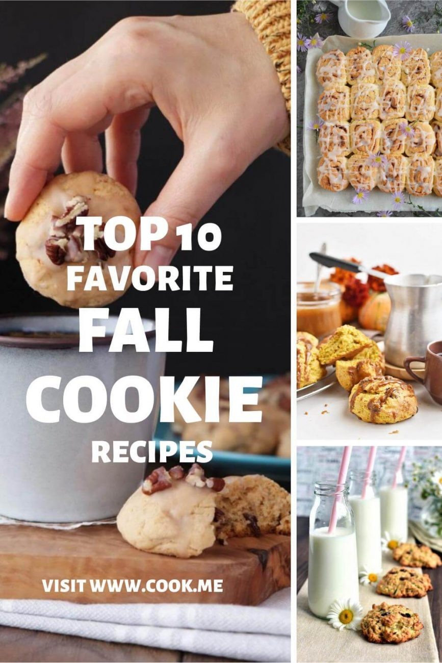 TOP 10 Fall Cookie Recipes - Best Fall Cookie Recipes -Homemade Cookies for Autumn