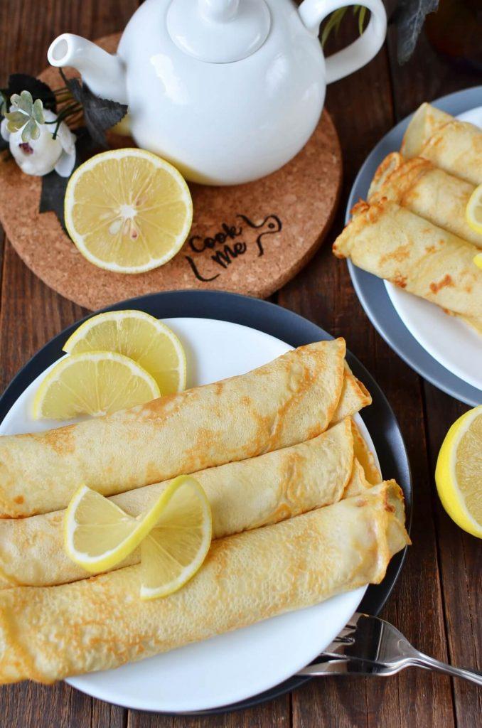 Traditional British Shrove Tuesday Pancakes
