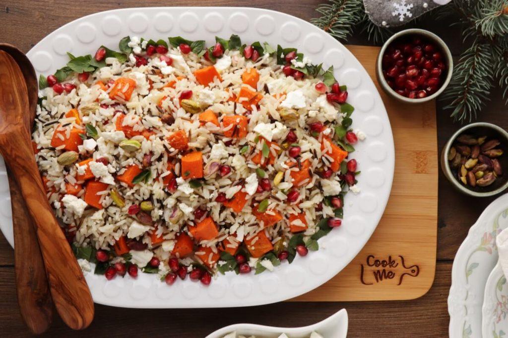 Warm Christmas Rice Salad Recipe-Easy Christmas Rice Salad-Festive Rice Salad