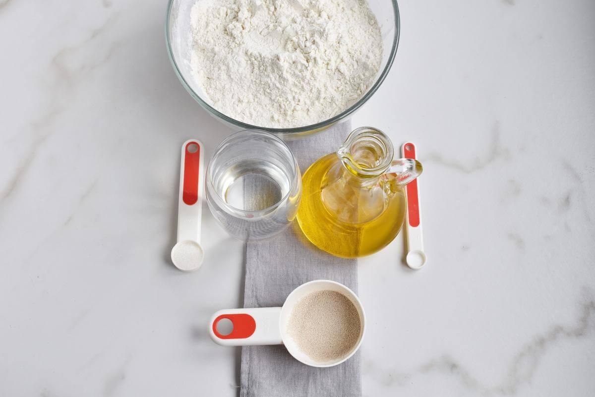 Ingridiens for White Bloomer Loaf