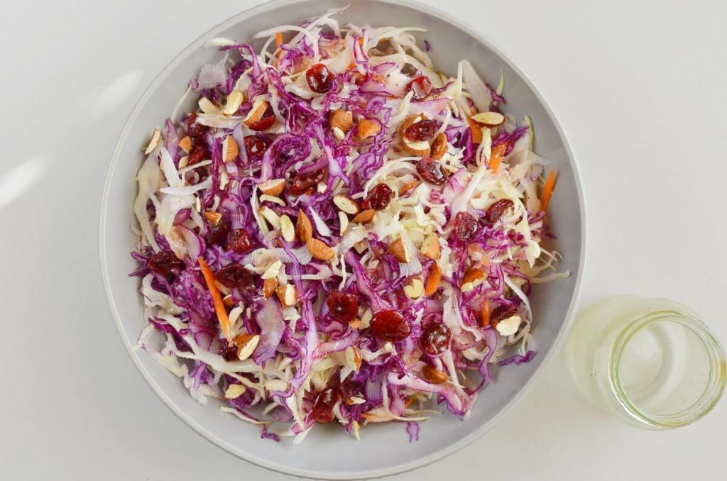 Apple Cranberry Almond Coleslaw Salad recipe - step 3