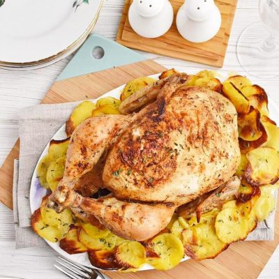Cast-Iron-Roast-Chicken-with-Crispy-Potatoes-Recipes–Homemade-Cast-Iron-Roast-Chicken-with-Crispy-Potatoes–Easy-Cast-Iron-Roast-Chicken-with-Crispy-Potatoes