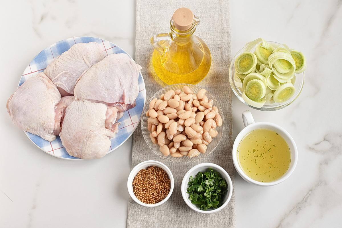 Ingridiens for Chicken, Leek and Dijon Casserole