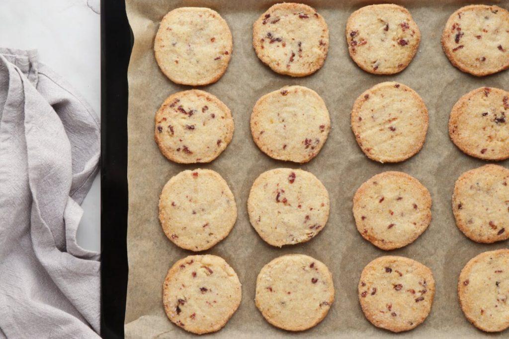 Cranberry Orange Shortbread Cookies recipe - step 10