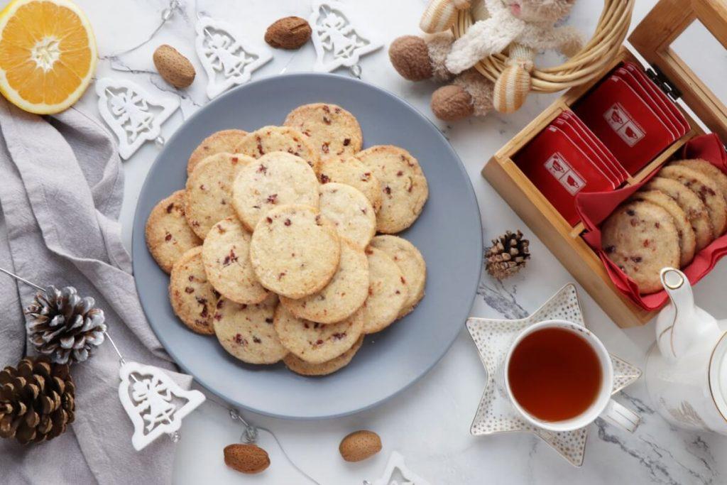 How to serve Cranberry Orange Shortbread Cookies