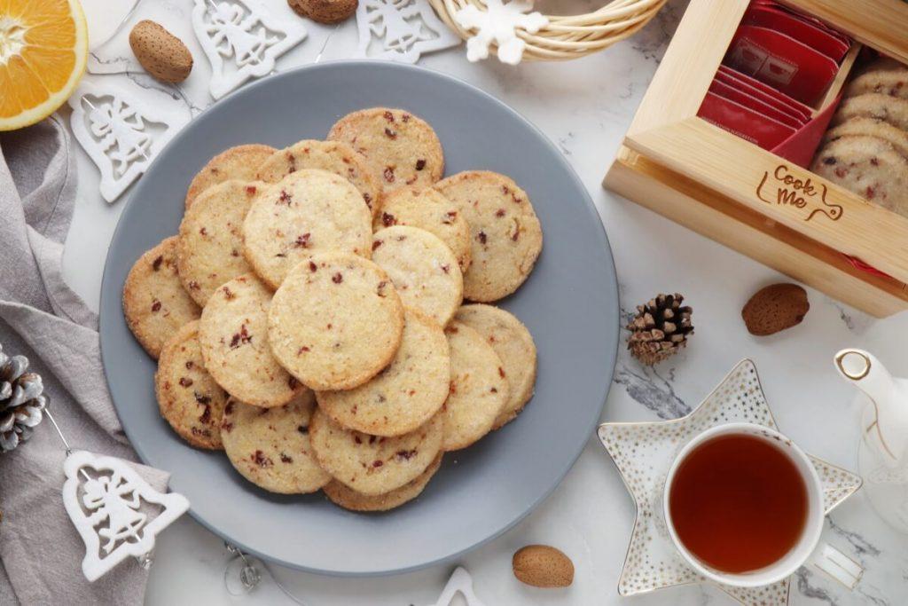 Cranberry Orange Shortbread Cookies Recipe-Slice and Bake Cranberry Orange Cookies-Citrus Shortbread Cookies