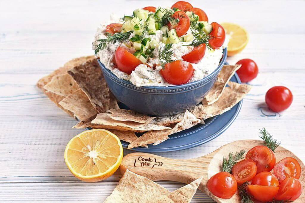 How to serve Greek Feta Dip