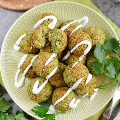 Healthy & Delicious Baked Falafel Recipe-How To Make Healthy & Delicious Baked Falafel-Easy Healthy & Delicious Baked Falafel