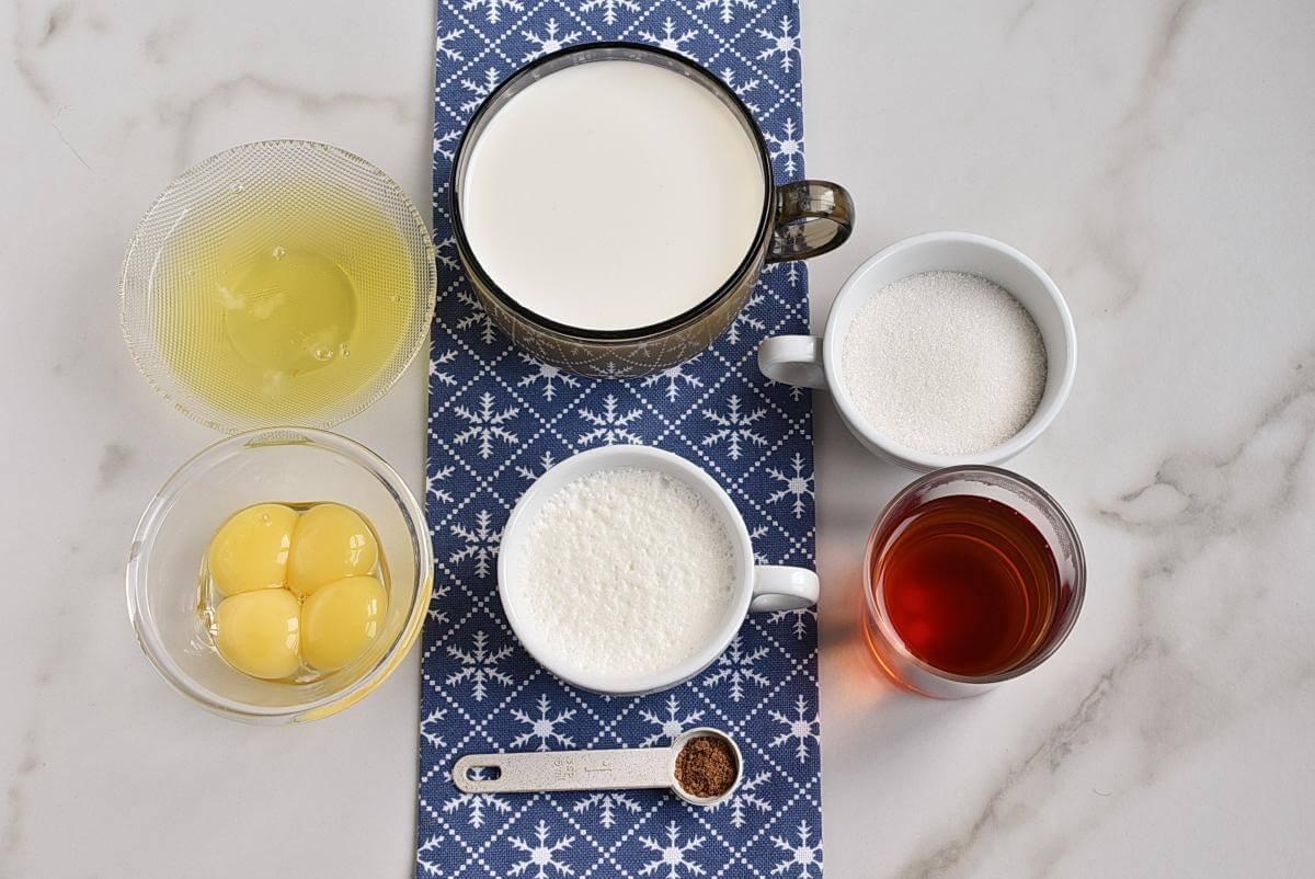 Ingridiens for Homemade Eggnog