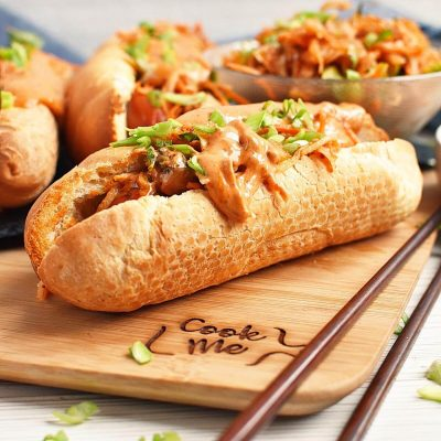 Hot Dogs with Spicy Kimchi Slaw Recipes–Homemade Hot Dogs with Spicy Kimchi Slaw–Easy Hot Dogs with Spicy Kimchi Slaw
