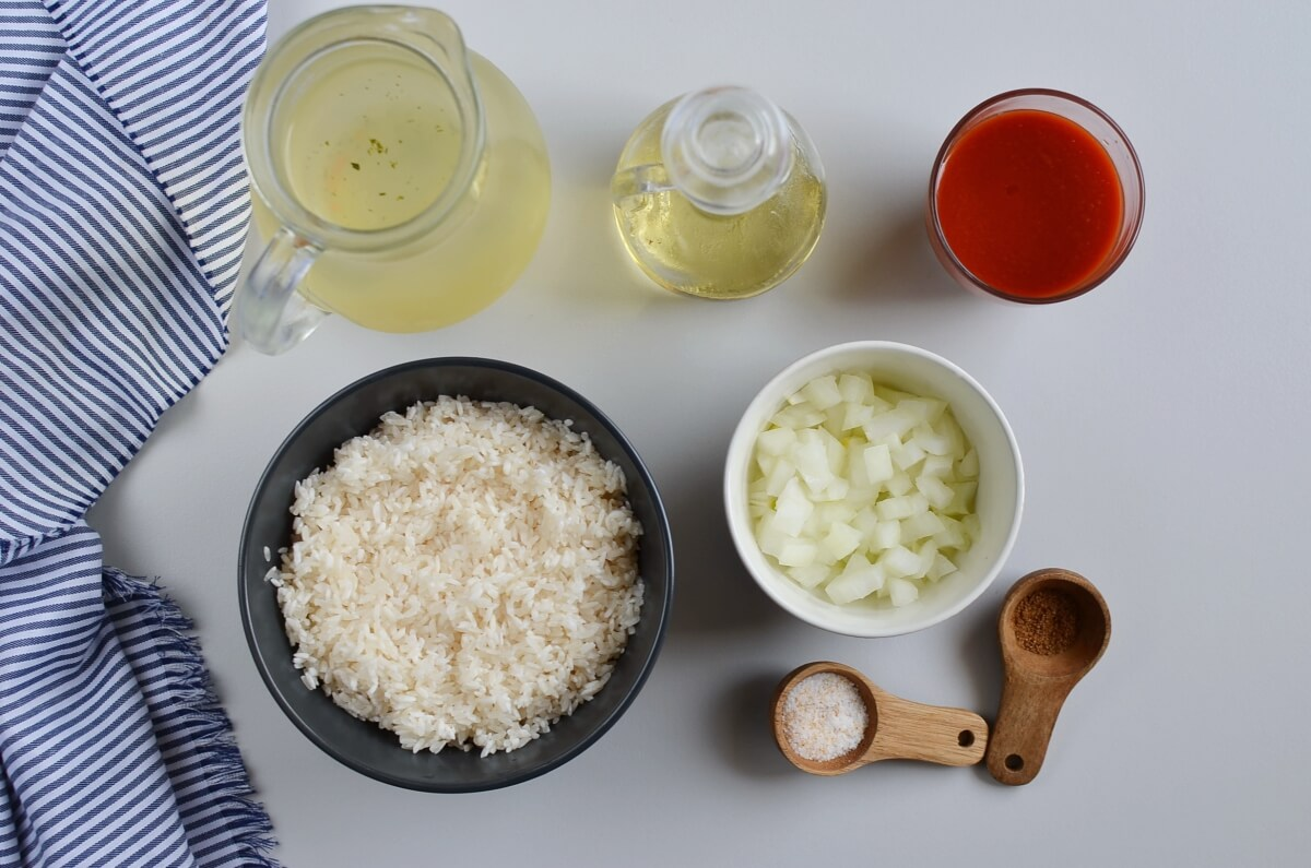 Ingridiens for Mexican Rice