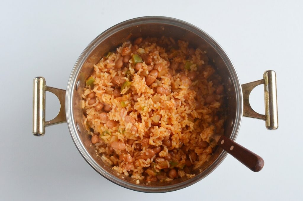 How to serve Mexican Rice and Beans