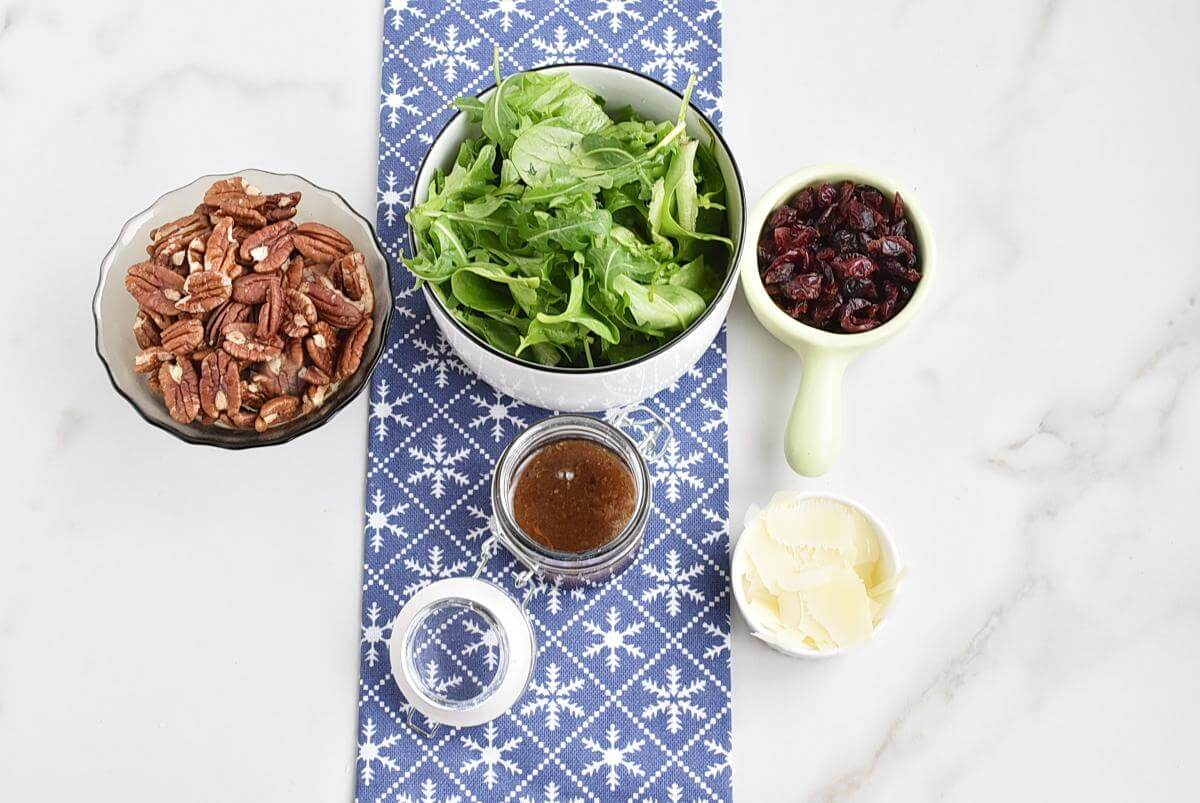 Ingridiens for Quick Christmas Salad