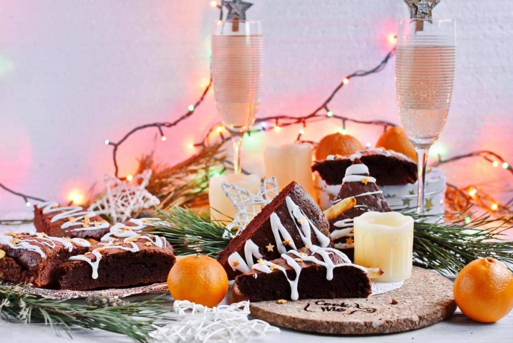 How to serve Spiced Christmas Tree Brownies