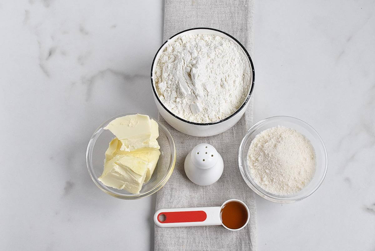 Ingridiens for Sugar Free Shortbread Cookies