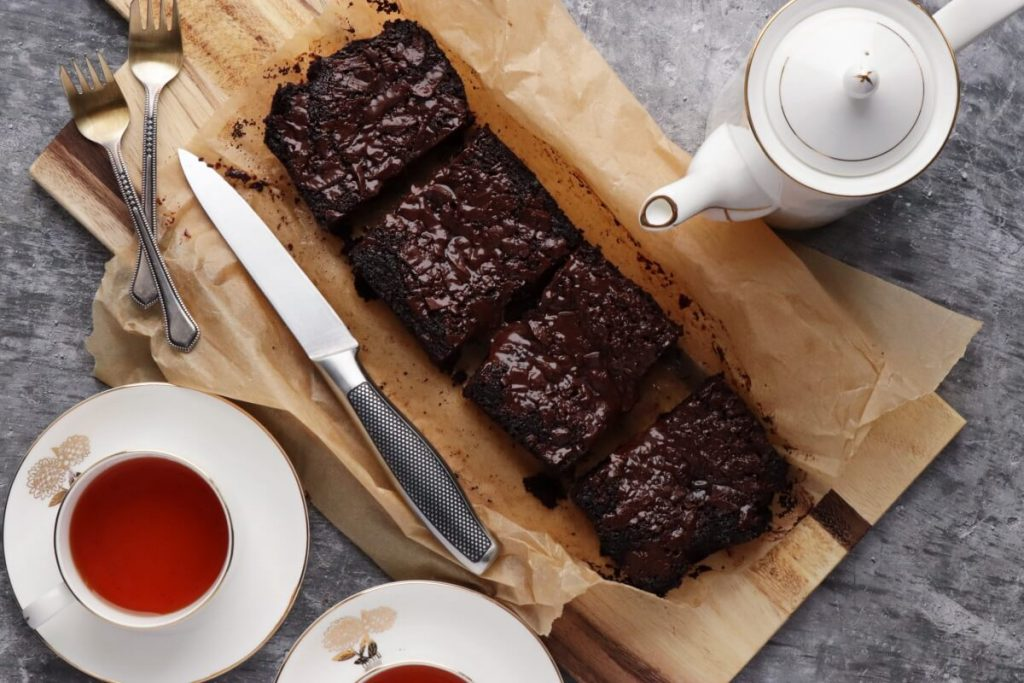 How to serve Vegan Brownies (Small Batch)