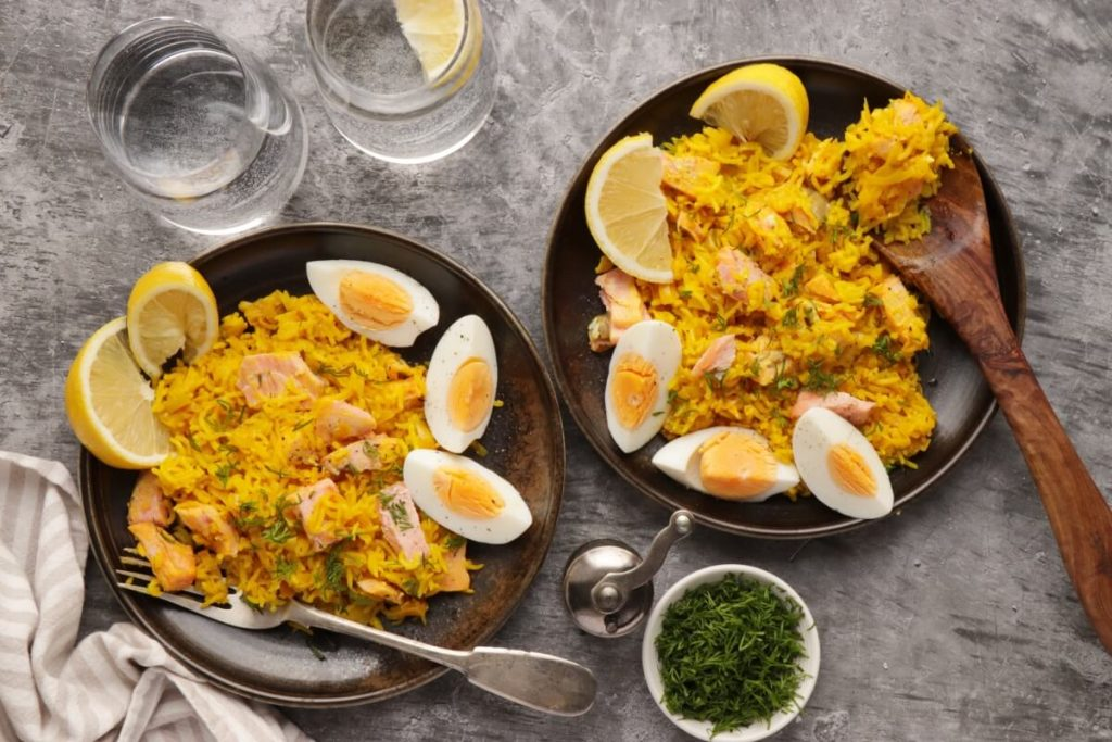 How to serve Buttery Leek and Smoked Trout Kedgeree