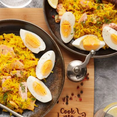 Buttery Leek and Smoked Trout Kedgeree Recipe-Smoked Trout Kedgeree-Kedgeree Recipes