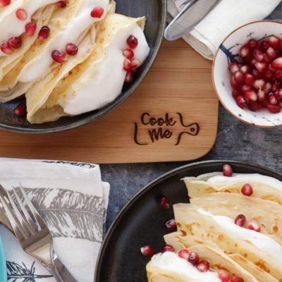 Dairy-Free Vanilla Crepes with Aquafaba Cream Recipe-Vegan Crepes Recipe-Eggless Crepes