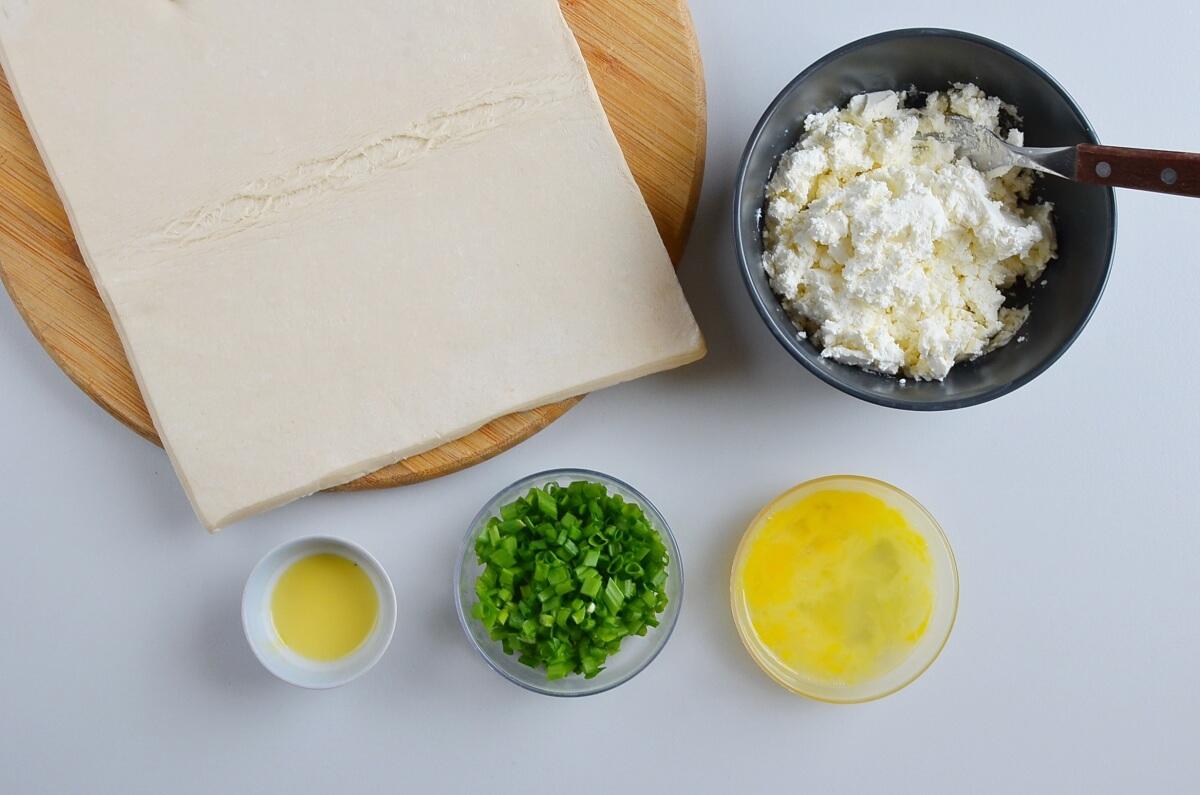 Ingridiens for Feta Cheese Foldovers