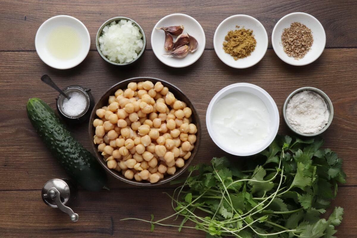 Ingridiens for Healthy Baked Falafel