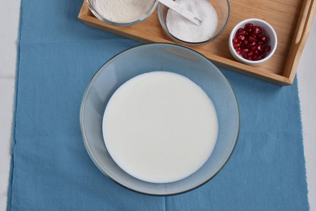 Microwave Eggless Fruit Custard recipe - step 1