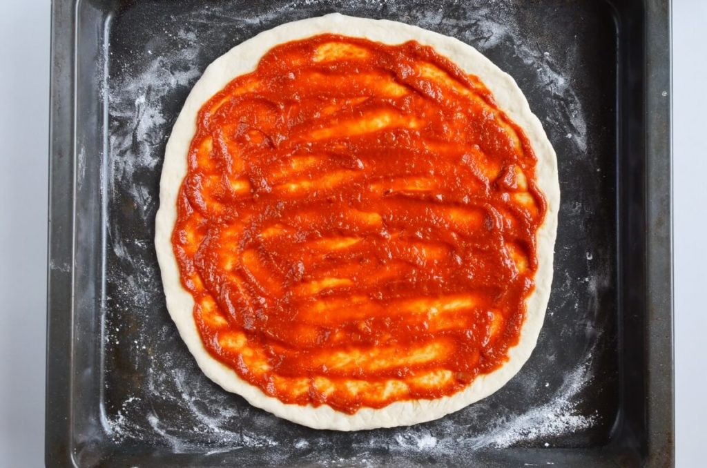 Pepperoni and Sweet Pickle Pizza recipe - step 3