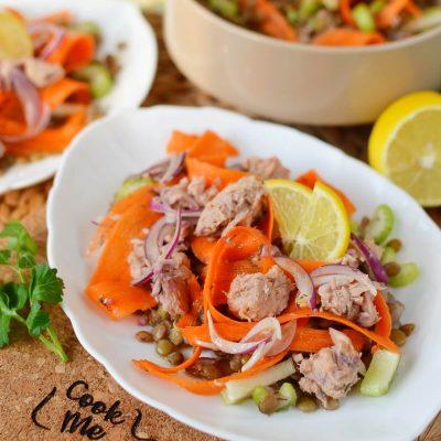 Quick Lentil Salmon Salad Recipe-How To Make Quick Lentil Salmon Salad-Delicious Quick Lentil Salmon Salad