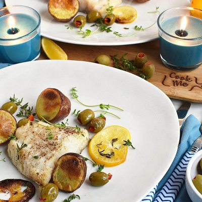 Roasted Cod with Olives and Lemon Recipes–Homemade Roasted Cod with Olives and Lemon–Easy Roasted Cod with Olives and Lemon