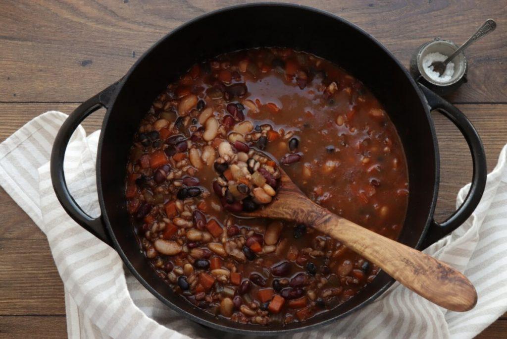 Southwestern Three-Bean and Barley Soup recipe - step 2