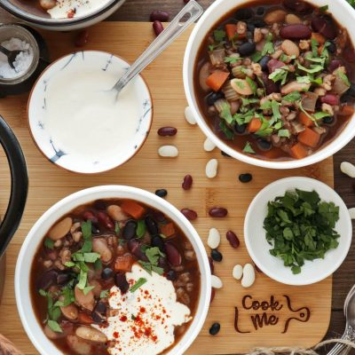 Southwestern Three-Bean and Barley Soup Recipe-Three-Bean and Barley Soup-Winter Weight Loss Recipe
