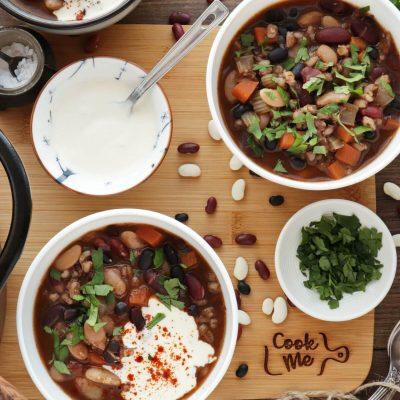 Southwestern Three-Bean and Barley Soup Recipe-Three-Bean and Barley Soup-Winter Weight Loss Recipe