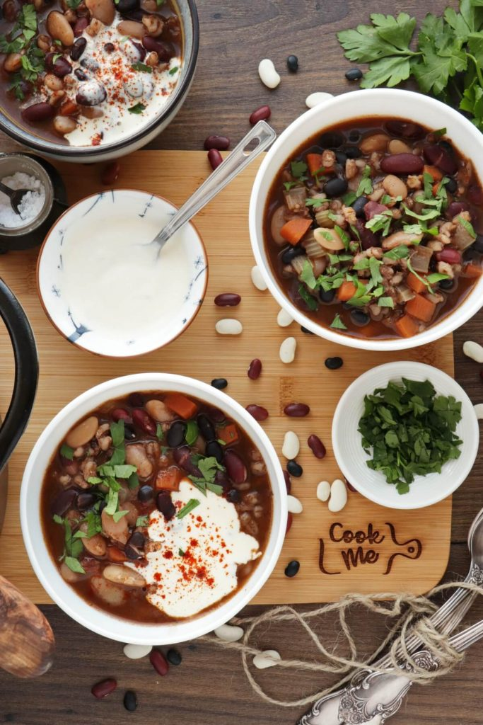 Healthy 3-Bean Vegetable Soup