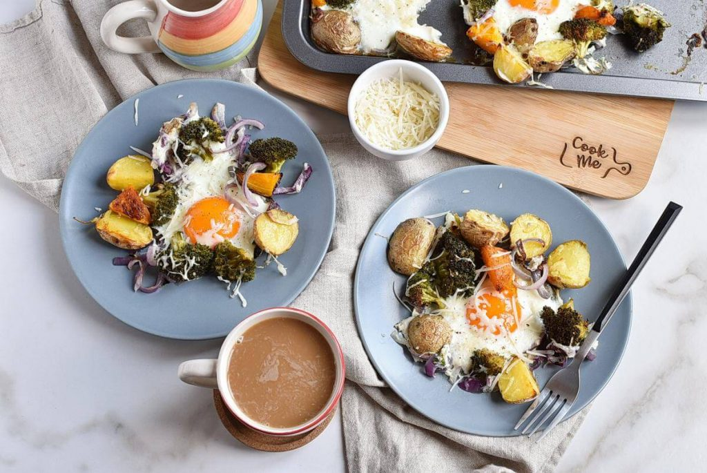 How to serve Baked Eggs with Roasted Vegetables
