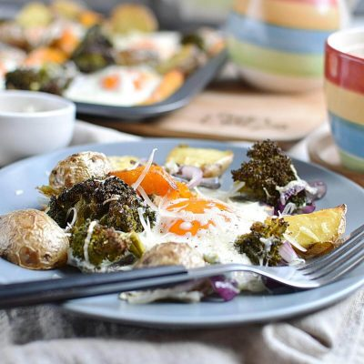 Baked Eggs with Roasted Vegetables Recipes–Homemade Baked Eggs with Roasted Vegetables–Eazy Baked Eggs with Roasted Vegetables
