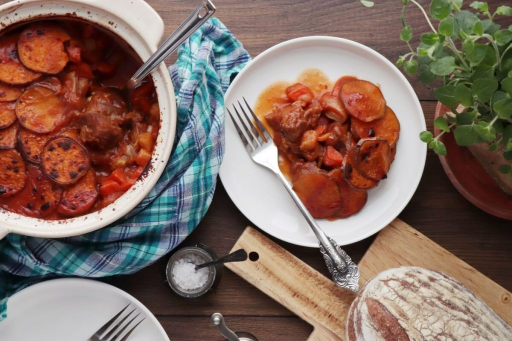 How to serve Beef and Root Veg Hot Pot