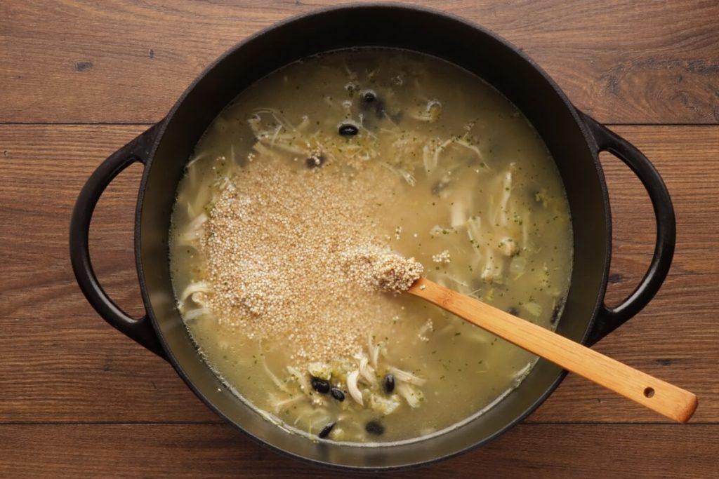 Chicken, Quinoa, and Black Bean Chili Verde recipe - step 4