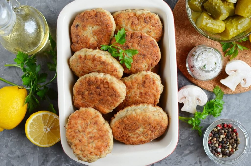 How to serve Chicken and Mushroom Patties (Russian Kotlety)