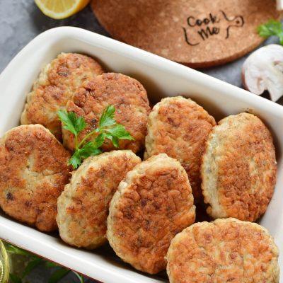 Chicken and Mushroom Patties (Russian Kotlety) Recipe-How To Make Chicken and Mushroom Patties (Russian Kotlety)-Delicious Chicken and Mushroom Patties (Russian Kotlety)
