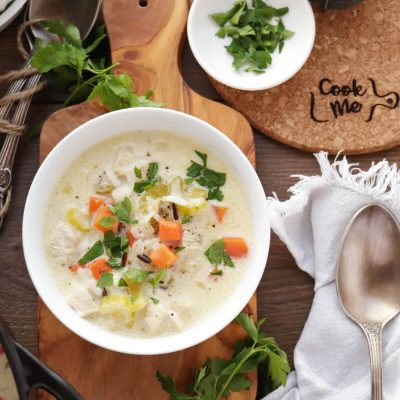 Chicken and Wild Rice Soup Recipe-Creamy Chicken and Wild Rice Soup-One-Pot Chicken and Wild Rice Soup