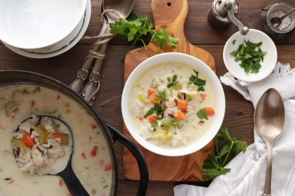 How to serve Chicken and Wild Rice Soup