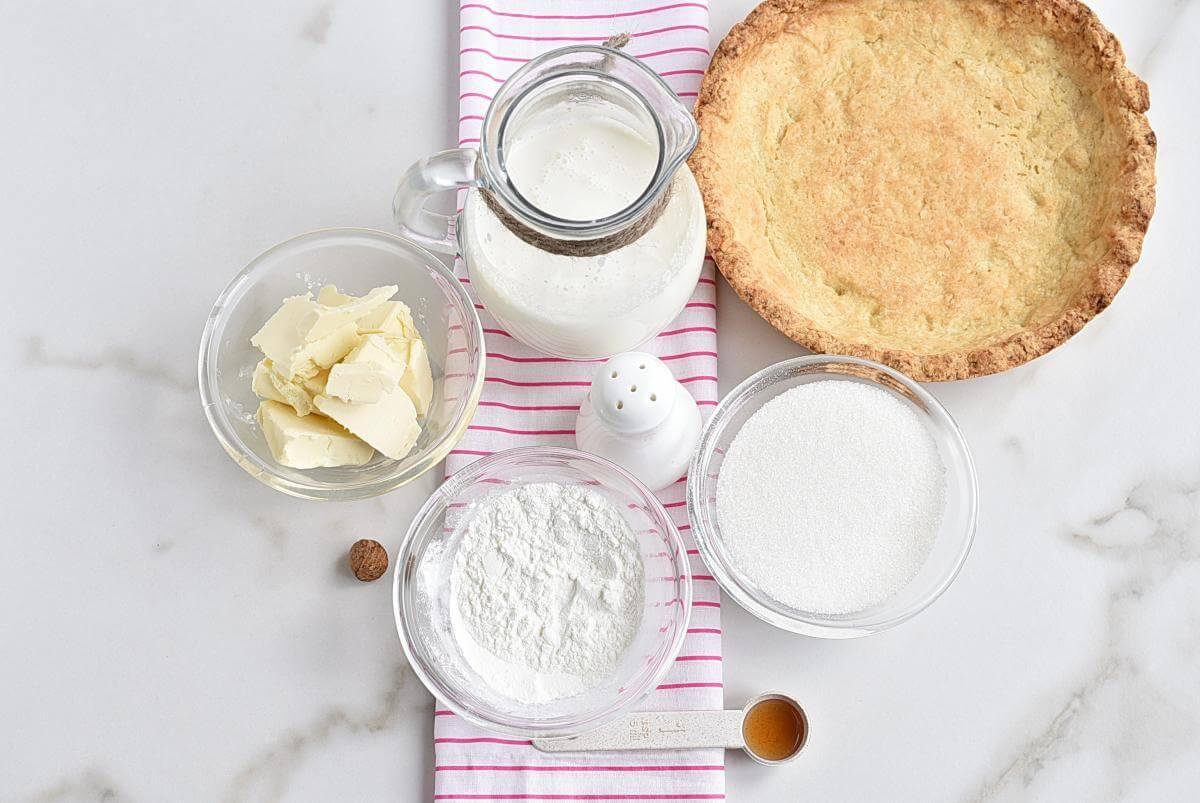 Ingridiens for Classic Sugar Cream Pie
