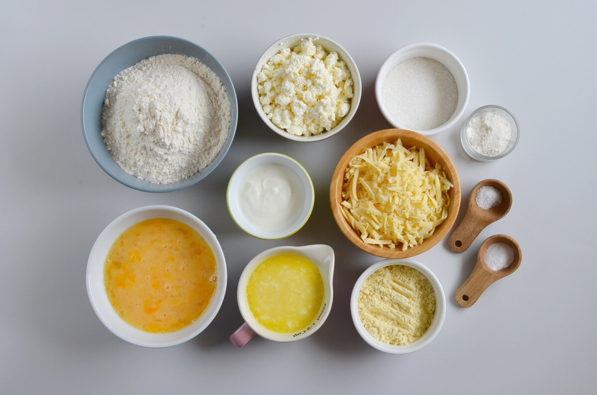 Ingridiens for Cottage Cheese Muffins