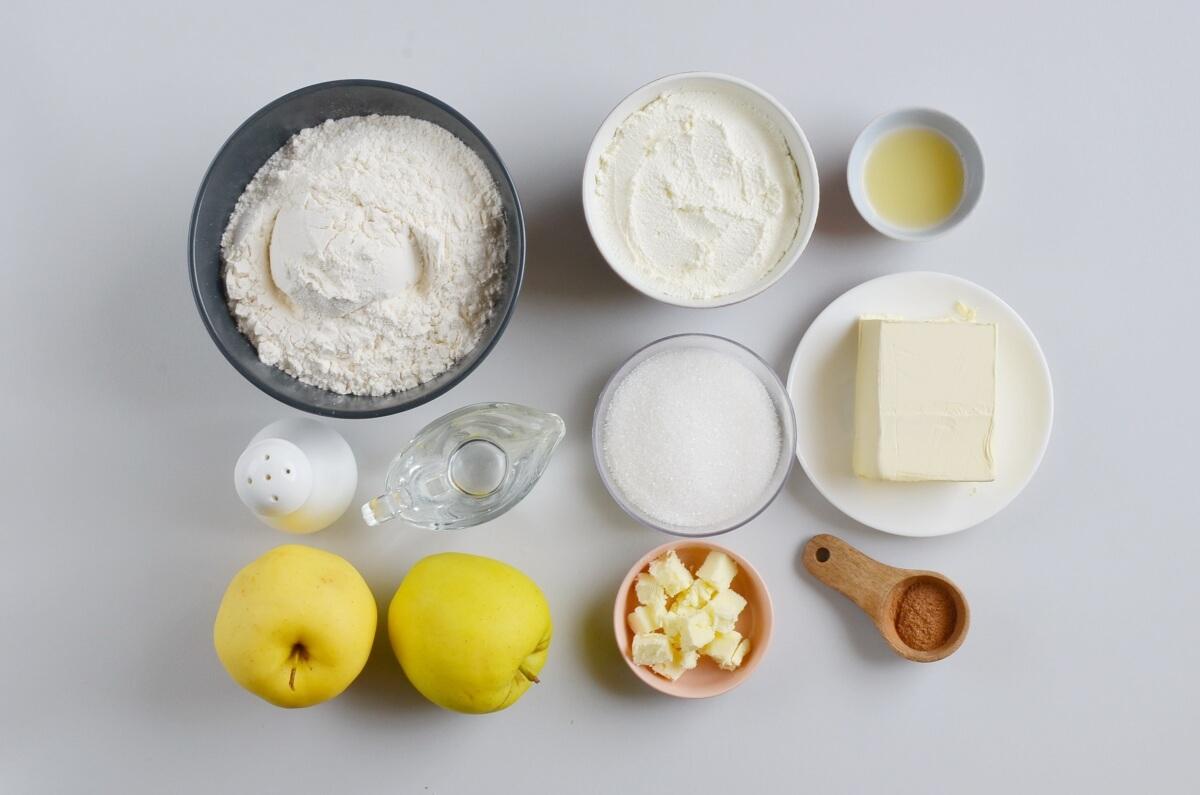 Ingridiens for Crusty Apple Pie