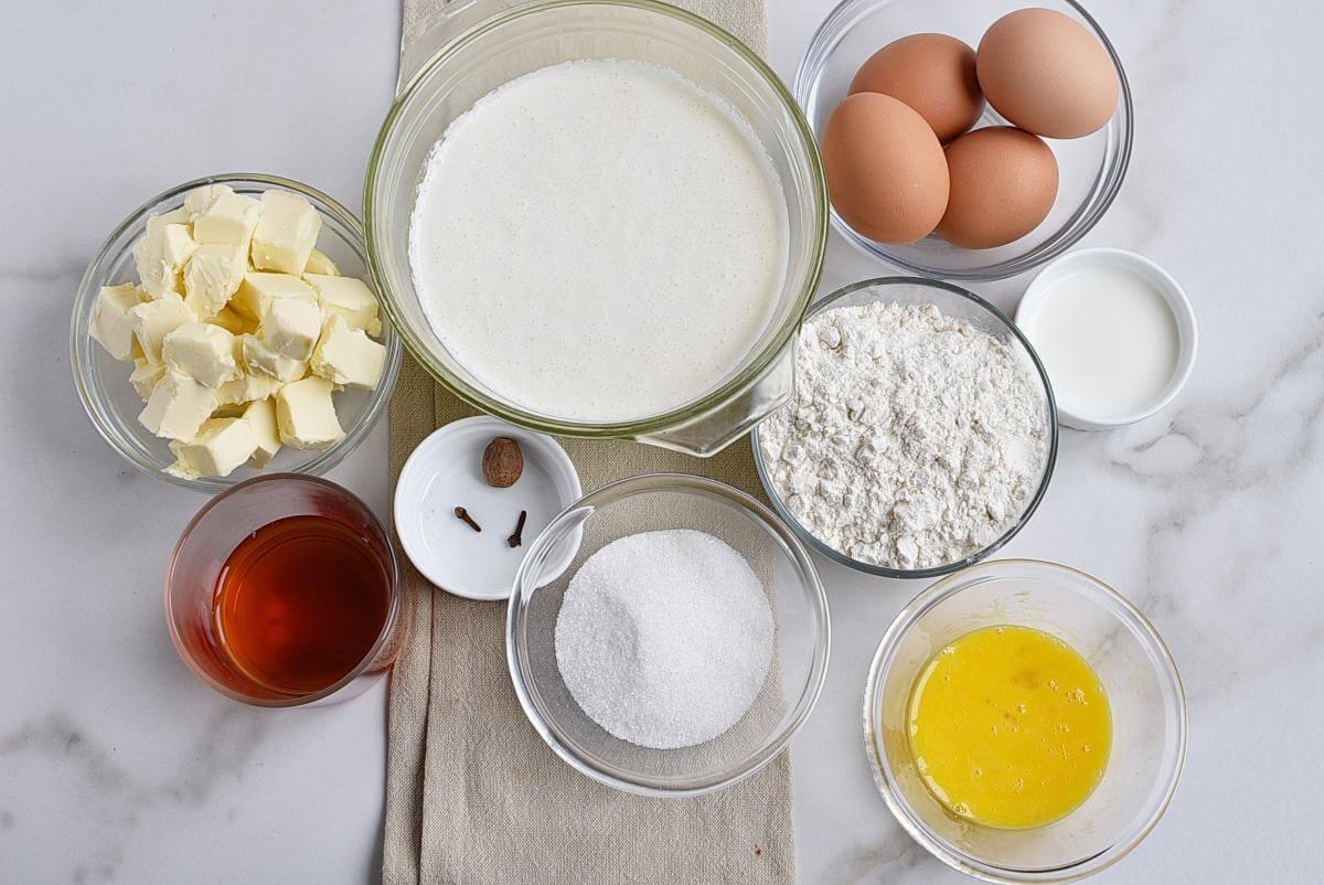 Ingridiens for Eggnog Cream Pie